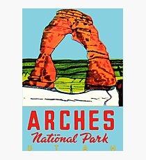 Arches National Park Utah Moab Vintage Travel Decal Photographic Print