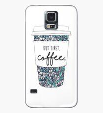 Floral Coffee Case/Skin for Samsung Galaxy