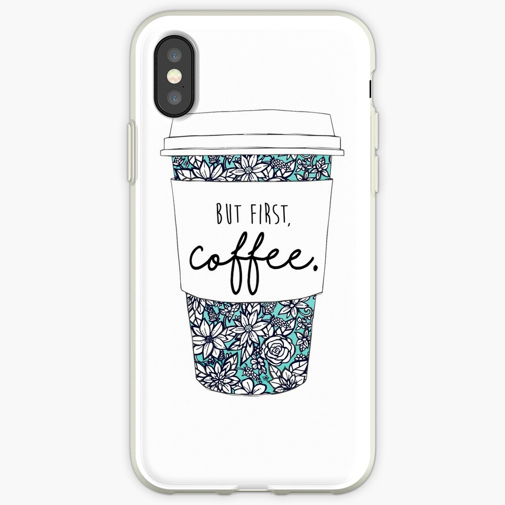 Blumenkaffee iPhone-Hülle & Cover