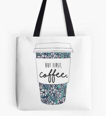 Floral Coffee Tote Bag