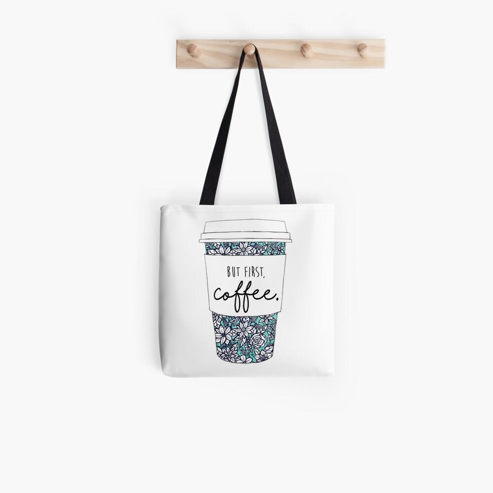Blumenkaffee Stofftasche