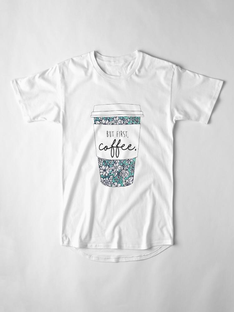 Alternative Ansicht von Blumenkaffee Longshirt