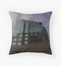 Emerald Building Throw Pillow