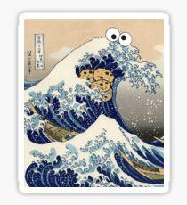 Funny Japanese Cookie Great Wave off Kanagawa T-Shirt Sticker