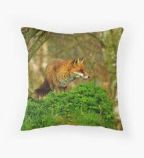 Alert Fox Throw Pillow