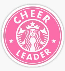 cheerleader starbucks sticker PINK Sticker