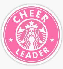cheerleader starbucks sticker PINK Sticker