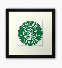 CHEERLEADER STAR BUCKS CHEER GREEN Framed Print