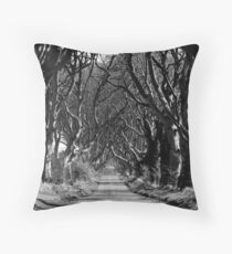 The Hedges, Armoy, Co. Antrim Throw Pillow