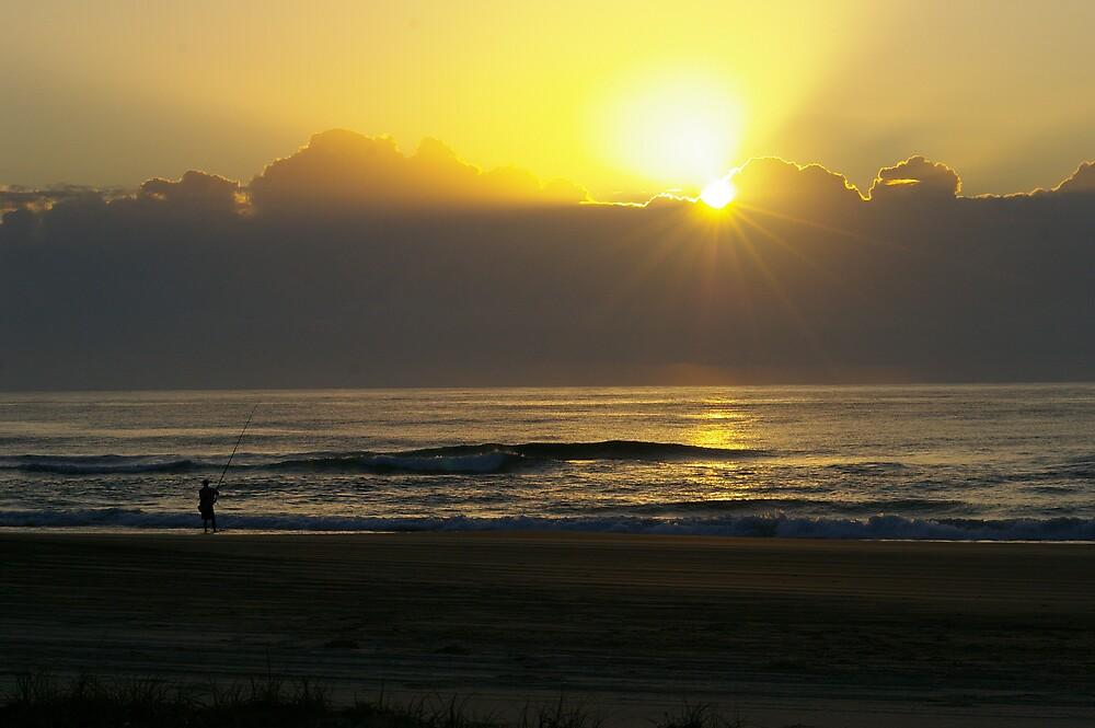 Sun Up On The Beach by Cherie Carlson