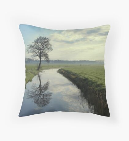 Tree by the Stream Throw Pillow