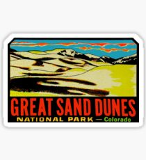 Great Sand Dunes National Park Colorado Vintage Travel Decal Sticker
