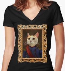 Napoleon Cat Fitted V-Neck T-Shirt