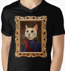 Napoleon Cat Men's V-Neck T-Shirt