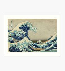Die große Welle Kunstdruck
