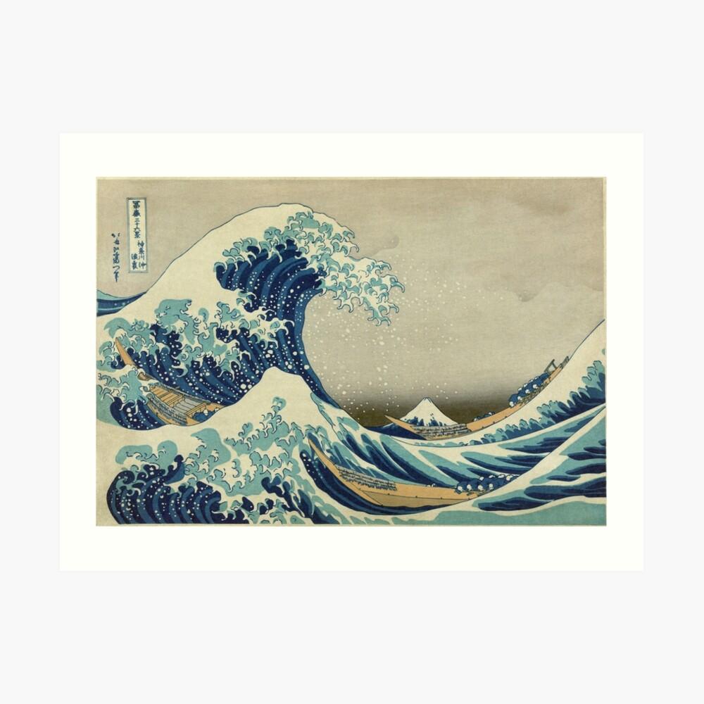 La gran ola Lámina artística