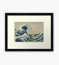 Die große Welle Gerahmtes Wandbild