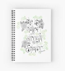 She is clothed, Proverbs  Spiral Notebook