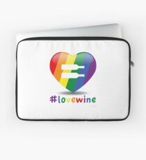 #lovewine (white shadow) Laptop Sleeve