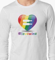#lovewine (white shadow) Long Sleeve T-Shirt