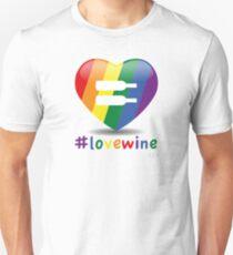 #lovewine (white shadow) Slim Fit T-Shirt