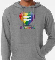 #lovewine (white shadow) Lightweight Hoodie