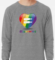 #lovewine (white shadow) Lightweight Sweatshirt