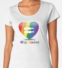 #lovewine (white shadow) Premium Scoop T-Shirt