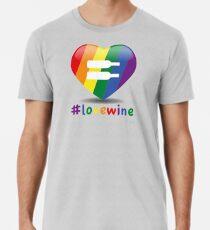 #lovewine (white shadow) Premium T-Shirt