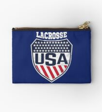Lacrosse Women's National Team Logo with USA Flag colors Studio Pouch