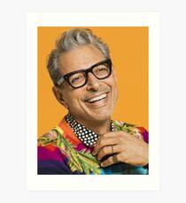 Jeff Goldblum happy Art Print