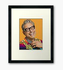Lámina enmarcada Jeff Goldblum feliz