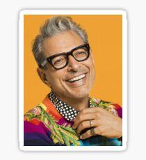 Jeff Goldblum happy Sticker