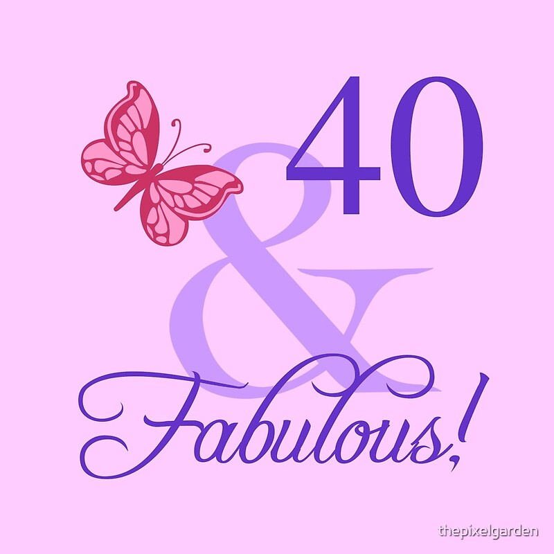 """Fabulous 40th Birthday For Her"" Throw Pillows by ... - photo#23"