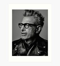 Jeff Goldblum serious Art Print