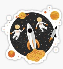 Floating in Outerspace in Yellow Sticker