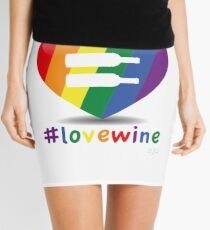 #lovewine (white shadow) Mini Skirt