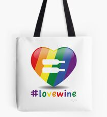 #lovewine (white shadow) Tote Bag