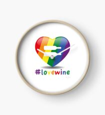 #lovewine (white shadow) Clock
