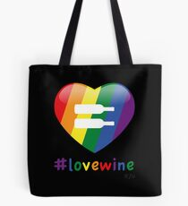 #lovewine (black shadow) Tote Bag