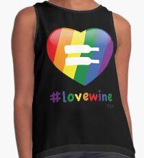 #lovewine (black shadow) Sleeveless Top