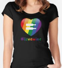 #lovewine (black shadow) Women's Fitted Scoop T-Shirt