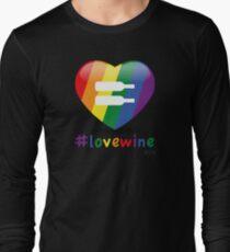 #lovewine (black shadow) Long Sleeve T-Shirt