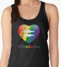 #lovewine (black shadow) Women's Tank Top