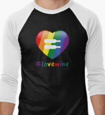 #lovewine (black shadow) Baseball ¾ Sleeve T-Shirt