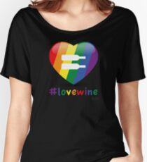 #lovewine (black shadow) Relaxed Fit T-Shirt