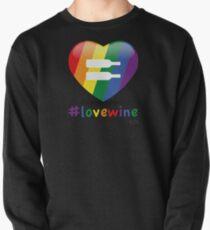 #lovewine (black shadow) Pullover