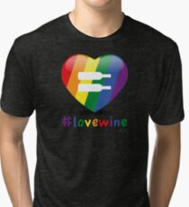#lovewine (black shadow) Tri-blend T-Shirt