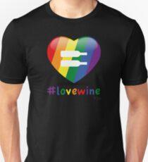 #lovewine (black shadow) Unisex T-Shirt