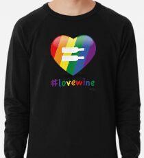 #lovewine (black shadow) Lightweight Sweatshirt